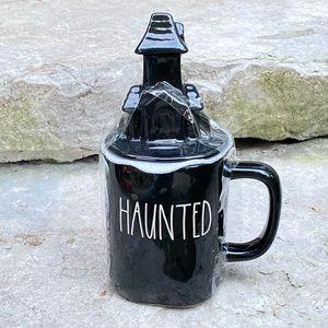 Rae Dunn HAUNTED Mug with Haunted House  Topper